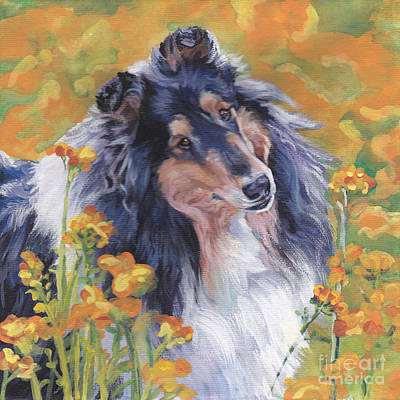 Rough Collie Poster by Lee Ann Shepard