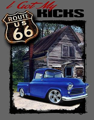 Route 66 Chevy Poster by Paul Kuras