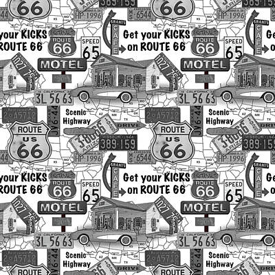 Route 66-jp3935-b Poster by Jean Plout