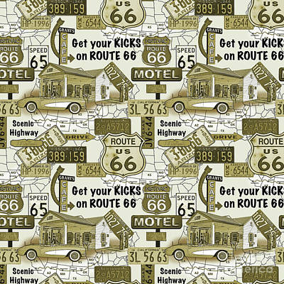 Route 66-jp3936-b Poster by Jean Plout