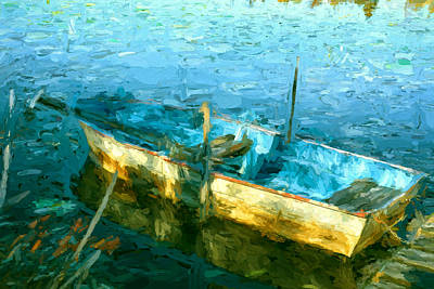 Rowboat In Morning Sun Poster by Dale Witherow