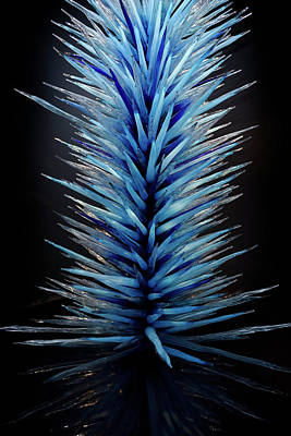 Royal Blue Icicle Tower Chihuly Glass Sculpture Rom Toronto Poster by Reimar Gaertner