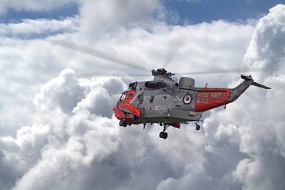 Royal Navy - Sea King Poster by Pat Speirs