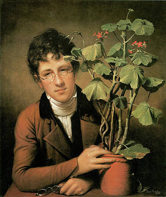Rubens Peale With A Geranium Poster by Charles Willson Peale