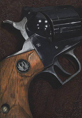 Forty Poster featuring the painting Ruger 44 Magnum Super Blackhawk Revolver by Jason Girard