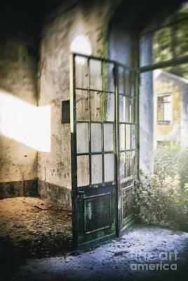 Ruined Door Poster by Carlos Caetano