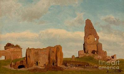 Ruins Campagna Poster by Albert Bierstadt