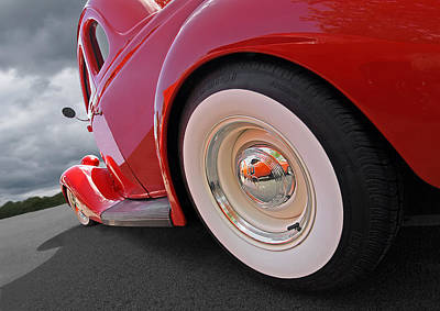 Rumblefest Red - Ford Coupe Poster by Gill Billington