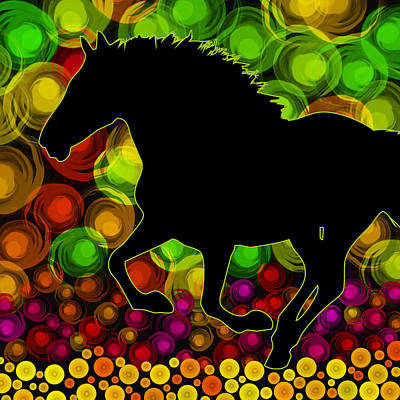 Running Horse Poster by Mihaela Pater