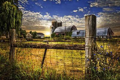 Rural Farms Poster by Debra and Dave Vanderlaan