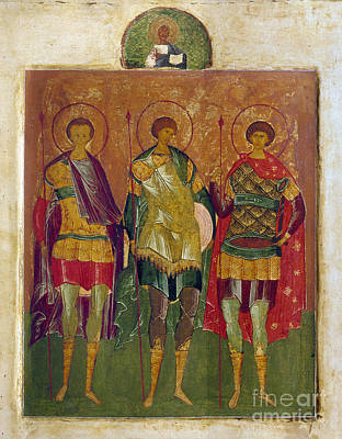 Russian Icon: Saints Poster by Granger