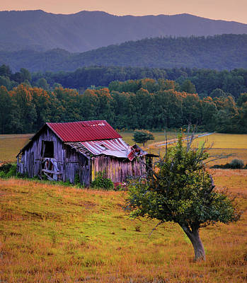 Rustic Barn - Wears Valley Tennessee Poster by Thomas Schoeller