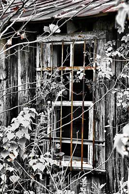 Rustic Barn Window Poster by Greg Sharpe