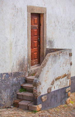 Rustic Brown Door Of Portugal Poster by David Letts