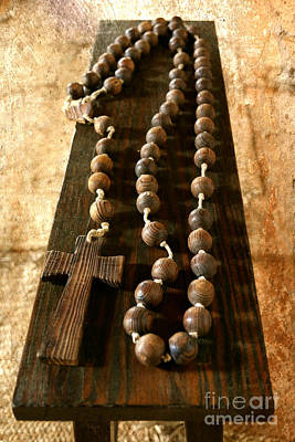 Rustic Rosary Poster by Carol Groenen