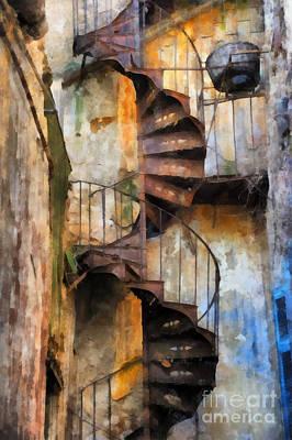 Rusty Helix Poster by Grigorios Moraitis