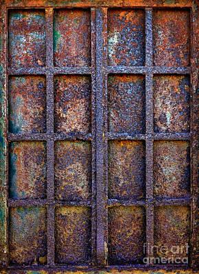 Rusty Iron Window Poster by Carlos Caetano