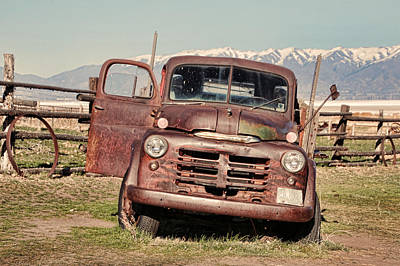 Rusty Old Dodge Poster by Ely Arsha
