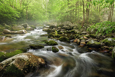 S Curve In The Smokies Poster by Jon Glaser