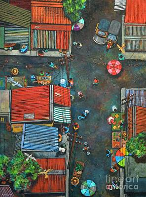 Sa Lumang Palengke Poster by Paul Hilario