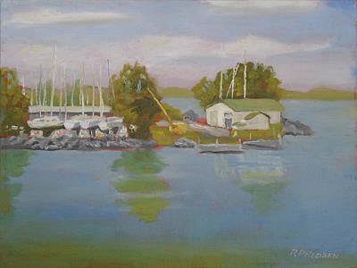 Sackets Harbor Dry Dock Poster by Robert P Hedden