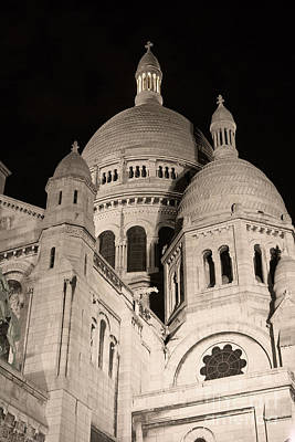 Sacre Coeur By Night IIi Poster by Fabrizio Ruggeri