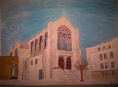 Sacred Heart Church Poster by John Cunnane