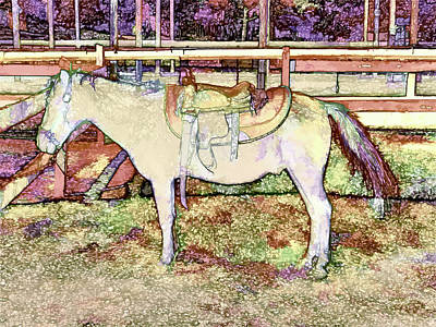 Saddle On Horseback 1 Poster by Lanjee Chee