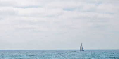 Sail On Blue - Widescreen Poster by Peter Tellone