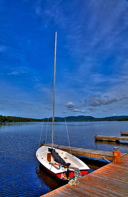 Sailboat At The Woods Inn Poster by David Patterson
