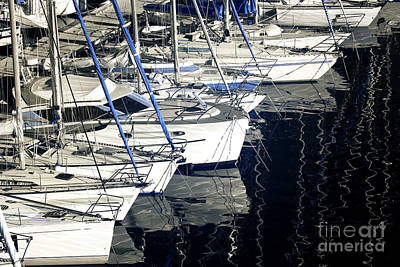 Sailboat Bow Poster by John Rizzuto