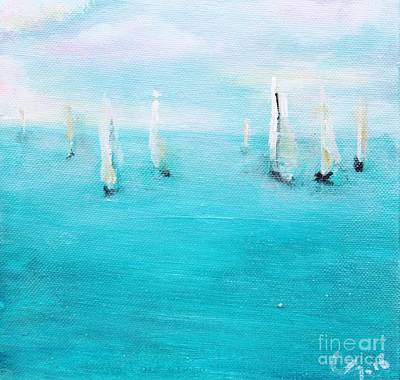 Sailboats  Poster by Chaline Ouellet