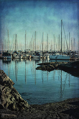 Marina - Digitally Textured Poster by Marilyn Wilson