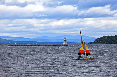 Sailing In Vermont Poster by James Steele
