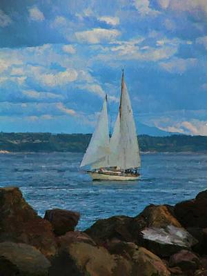 Sailing On A Summer Day Poster by Dan Sproul