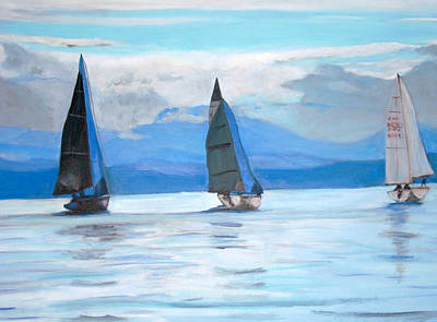 Sailing Race Poster by Teresa Dominici