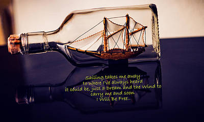 Sailing Takes Me Away Poster by Malisa Brannon