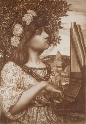 Saint Cecilia Poster by Henry Ryland