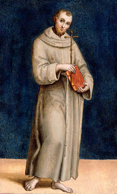 Saint Francis Of Assisi Poster by Raphael