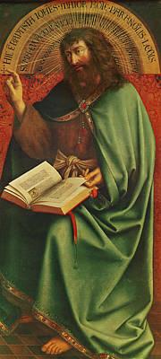 Saint John The Baptist   Poster by Jan Van Eyck