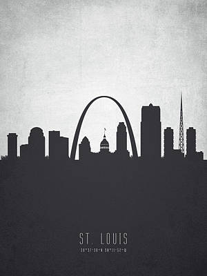 Saint Louis Missouri Cityscape 19 Poster by Aged Pixel