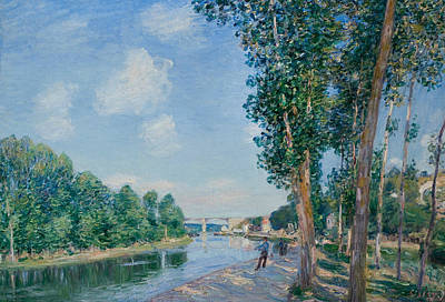Saint Mammes June Sunshine  Poster by Alfred Sisley