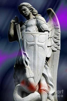 Saint Michel Poster by Archangelus Gallery