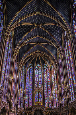 Sainte Chapelle Stained Glass Paris Poster by Joan Carroll