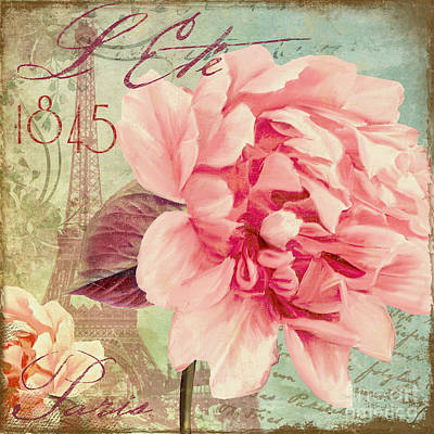 Saisons Fleurs Pink Poster by Mindy Sommers