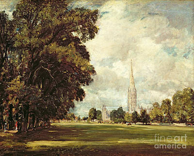 Salisbury Cathedral From Lower Marsh Close Poster by John Constable