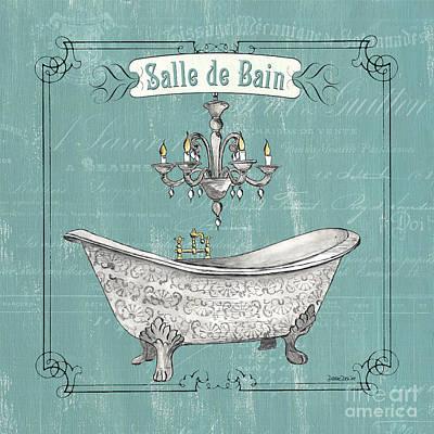 Salle De Bain Poster by Debbie DeWitt