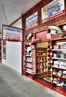 Salmon In Ketchikan Poster by Mel Steinhauer