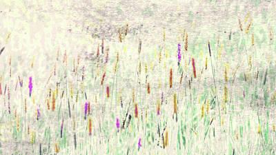 Salt Marsh Abstract Poster by Bob Orsillo