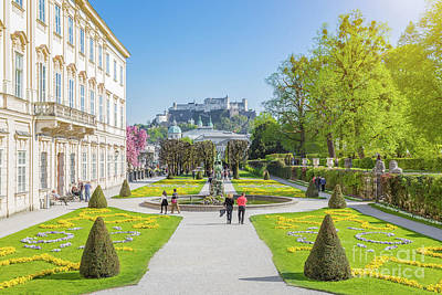 Salzburg Mirabell Gardens Poster by JR Photography